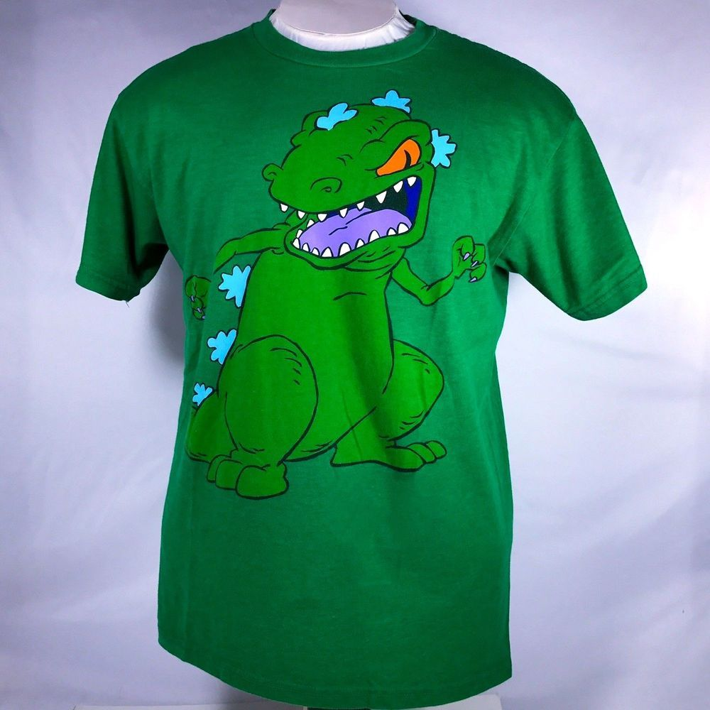154cf7fb47b Rugrats Large Reptar Shirt Nickelodeon Green T Rex Dinosaur Graphic Tee   FifthSun  GraphicTee