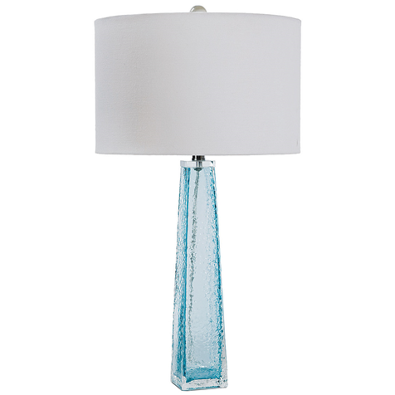 Accent Your Living Space With This Sophisticated, Fashionable Light Blue  Glass Lamp By Regina Andrew