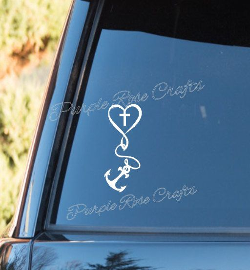 Love For God Anchor Cross Christian Religious Decal Sticker - Anchor custom vinyl decals for car