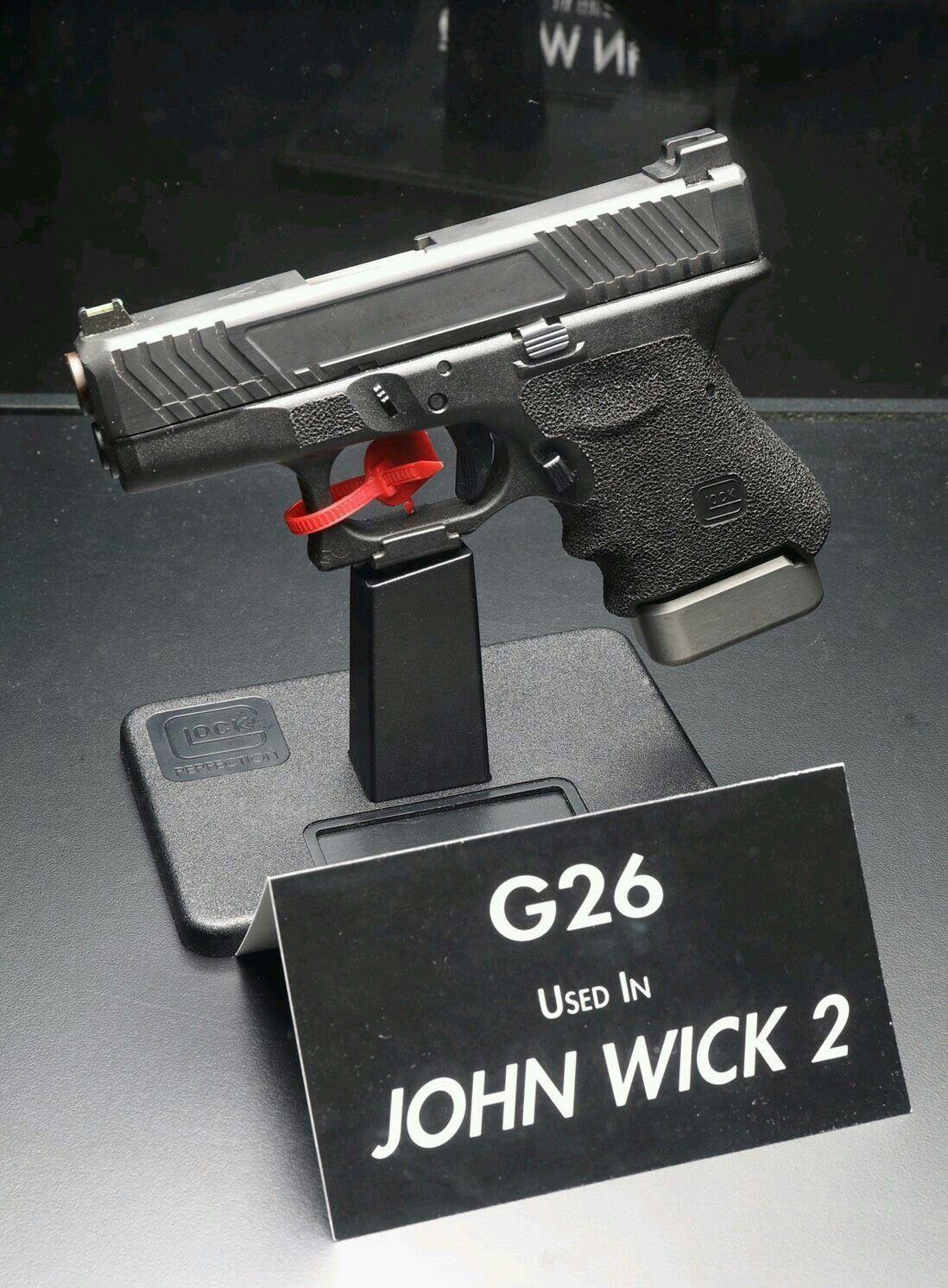 Glock 26-John Wick 2 | Firearms & Stuff | Guns, Hand guns, Custom glock