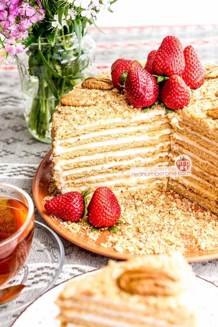 Russian Honey Cake - Medovik recipe | RedNumberONE