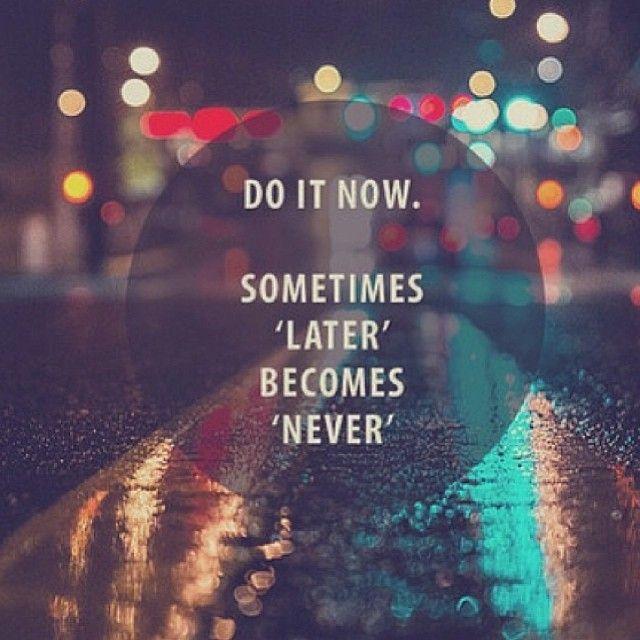 "Do it now. Sometimes ""later"" becomes ""never"". #BellLetsTalk"