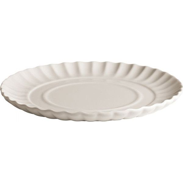 Seletti Ripple Plate In Porcelain ($27) ❤ liked on Polyvore featuring home, kitchen & dining, dinnerware, white, white dinnerware, white plate, white porcelain plates, porcelain dinnerware and porcelain plates