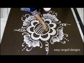 easy rangoli design with dots simple muggulu designs kolam chukkala art youtube also rh in pinterest