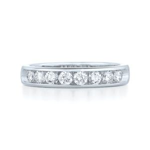 Round Diamond Channel Set Wedding Band