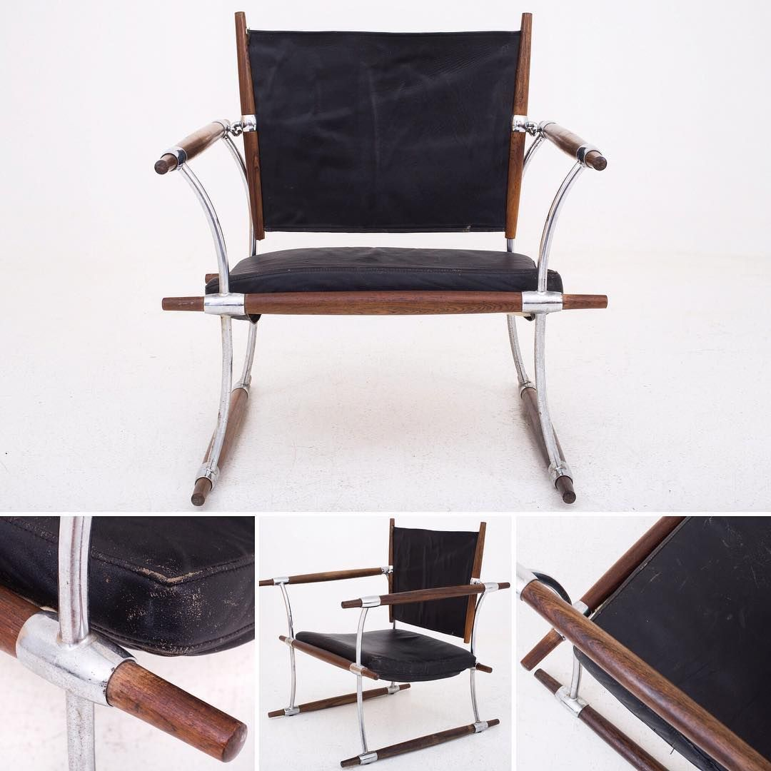 "Jens H. Quistgaard's amazing ""Conical stick chair"" in rosewood and original black leather!  : @p_wessel #roxyklassik"