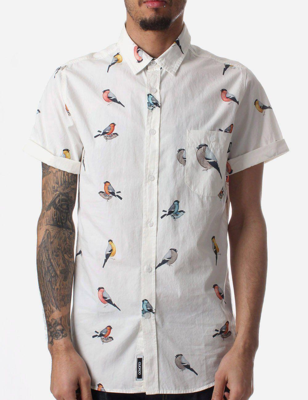 e8f1780f7 All Over Bird Print Men's T-shirt Off White in 2019 | Bird Print ...