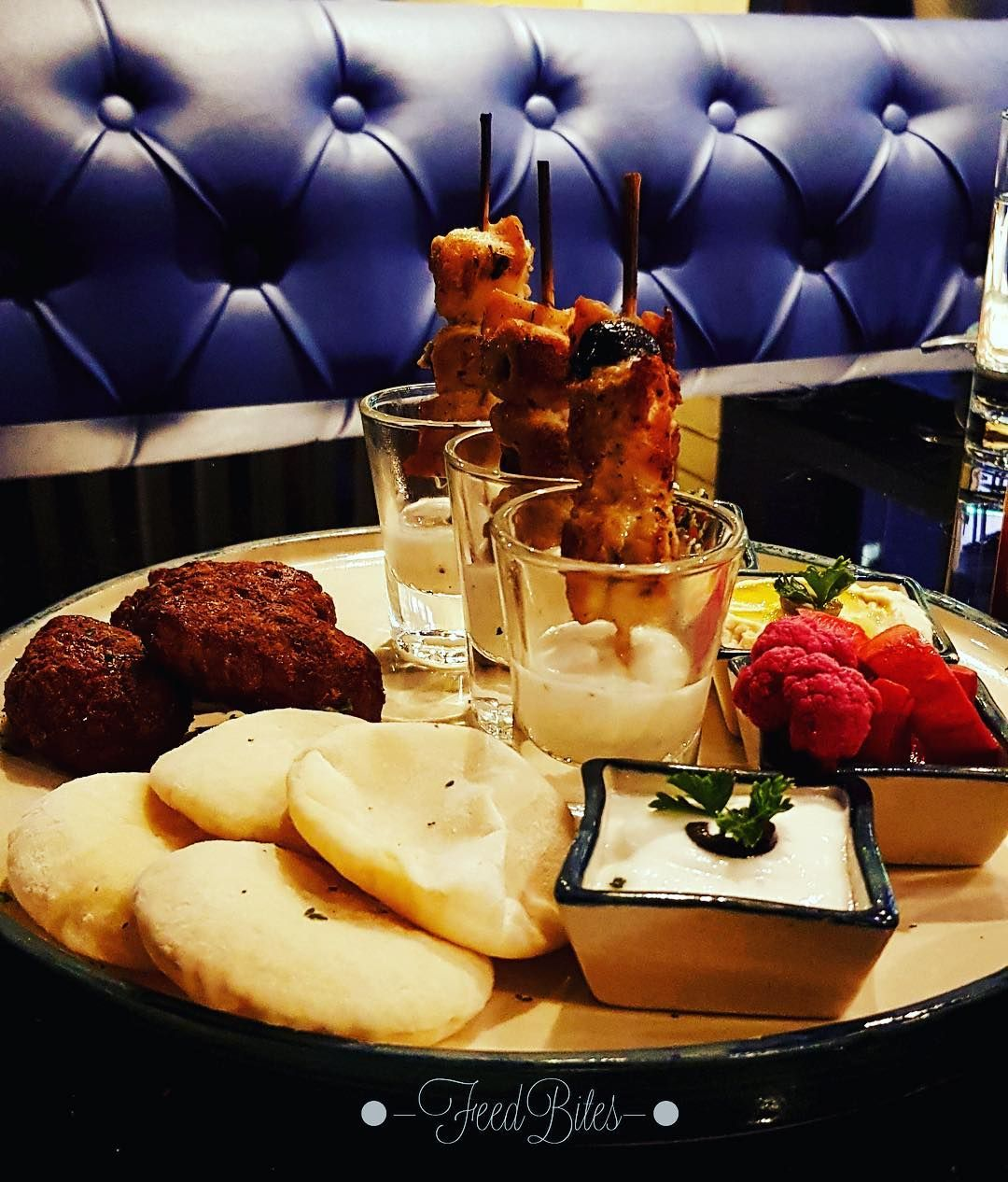 Chicken Mezze Platter With Chicken Seekh And Mayo Shots Try This Lovely Fusion Kalamatacookhouseandbar Follow Feed Indian Food Recipes Food Is Fuel Food