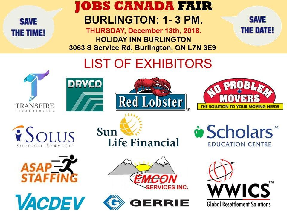 List of Hiring Companies for Burlington Job Fair December