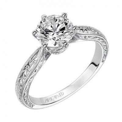 Elise ArtCarved Diamond Engagement Ring $630.