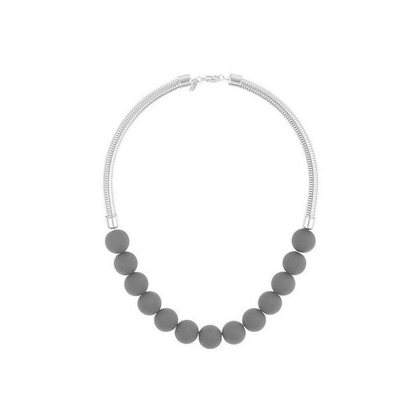 TopShop Black Rubber Ball Necklace (11 CAD) ❤ liked on Polyvore featuring jewelry, necklaces, black, rubber necklace, ball jewelry, topshop, topshop necklace and topshop jewelry