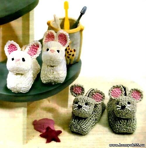 тапочки зайчики и тапочки мышки