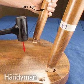 Fix A Wobbly Chair Reglue Wooden