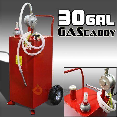 Stark 30gal Gas Caddy Storage Tank Portable With Rotary Pump And Hose Walmart Com Storage Tank Fuel Storage Diesel Fuel