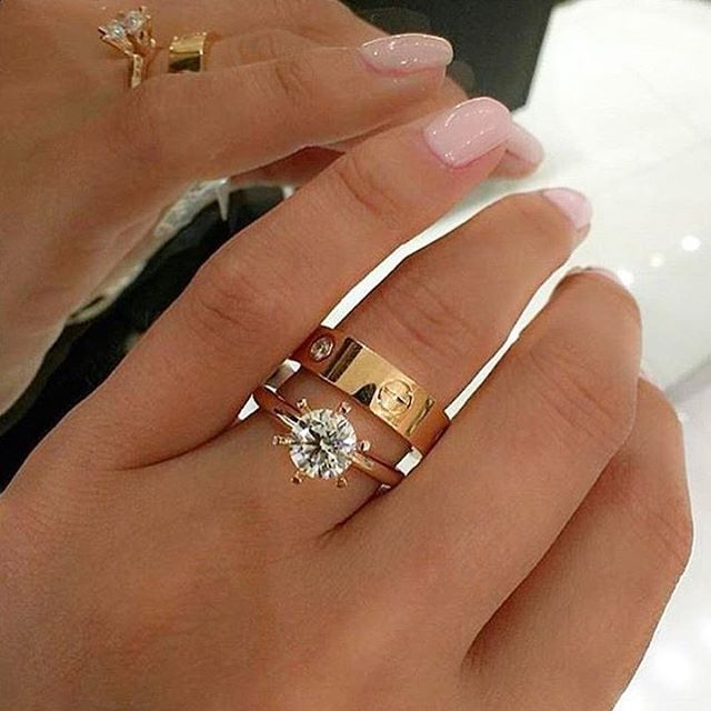 I Just Adore This Diamond Engagement Ring + Cartier Love