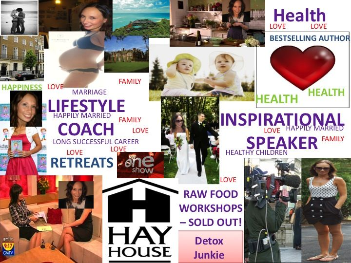 She Created This Vision Board On Jan 2010 Just After Had Been Hospitalized For Pneumonia And Found A Lump In Her Neck Which Discovered Week