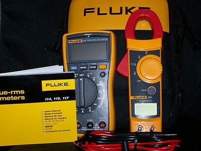 Fluke 117 / 322 True RMS Multimeter & Clamp Meter Combo Kit