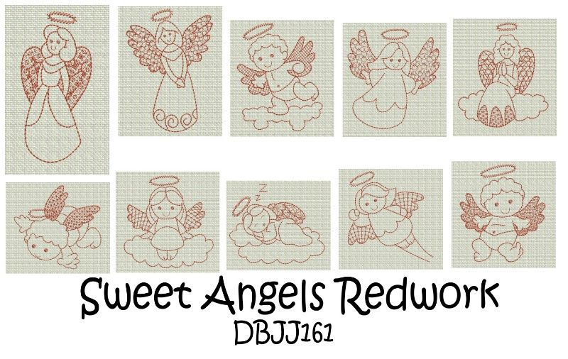 Image Detail for - ... Designs | Free Machine Embroidery Designs | JuJu Angels Redwork