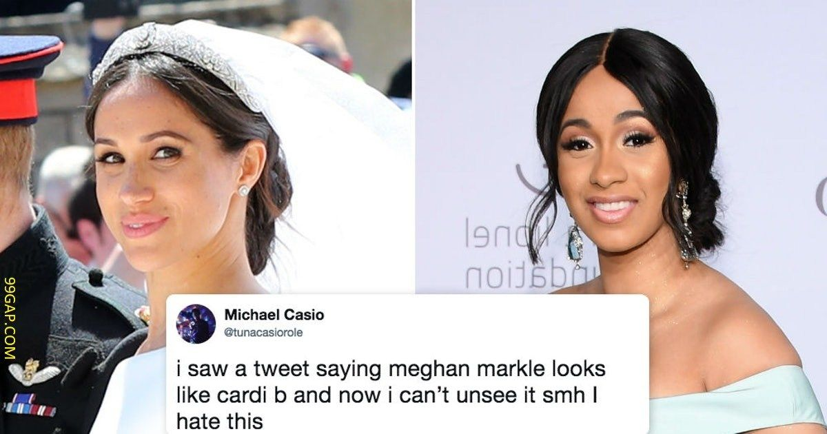 Funny Facebook Post About Cardib Vs Meghanmarkle Funny Facebook Posts Funny Tweets Funny Pictures