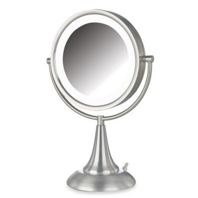 Jerdon 8x 1x Led 15 Inch Lighted Vanity Mirror In Brushed Nickel