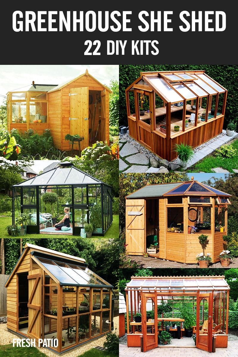 Greenhouse SHE Shed - 22 Awesome DIY Kit Ideas | Garden | Pinterest on