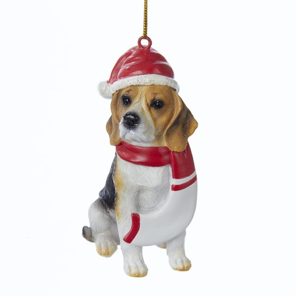 3 9 Resin Christmas Beagle Ornament Santa Ornaments Ornaments