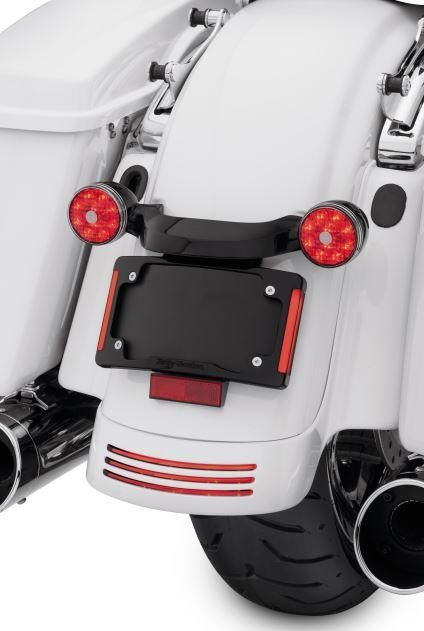 Curved License Plate Frame with LED Lighting | Street glide, License ...