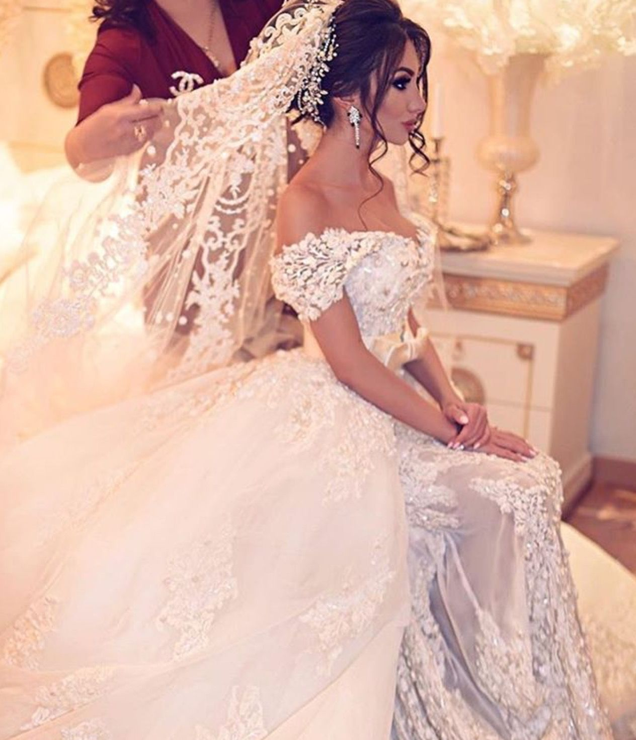 Wedding dress | Wedding dress | Pinterest | Peinados para boda, De ...