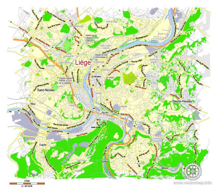 liege belgium printable vector map adobe illustrator editable g view level 13