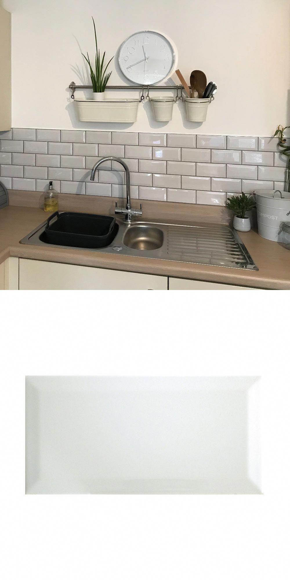 Elizabeth Created A Traditional Kitchen Splashback With Grey Metro Tiles In 2020 Grey Kitchen Tiles Kitchen Wall Tiles Grey Kitchen Wall Tiles