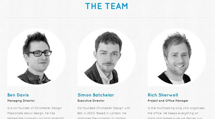 50 web layouts for showcasing company teams employees for Design sito