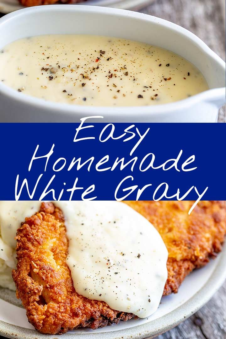 Easy Homemade White Gravy | Sprinkles and Sprouts