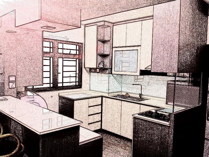 Hdb Kitchen Interior Design Singapore Cabinet Finelinedesignstudio