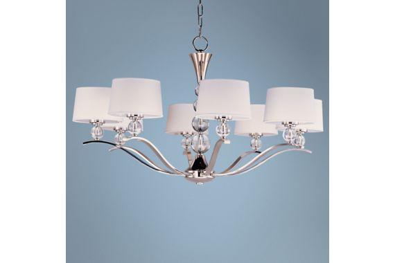 Maxim Rondo Polished Nickel 8-Light 38 3/4-Inch-W Chandelier - #EUU5448 - Euro Style Lighting