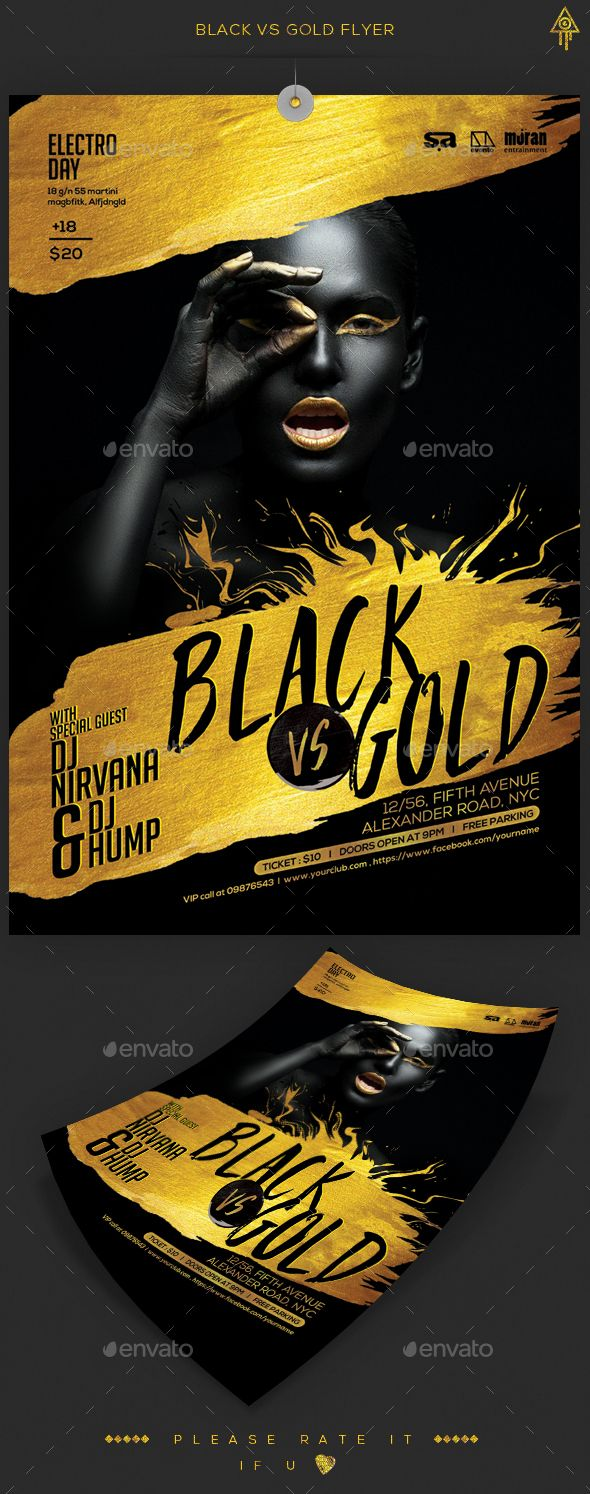 black gold party flyer anniversaries flyers and photoshop black gold party flyer template psd here graphicriver
