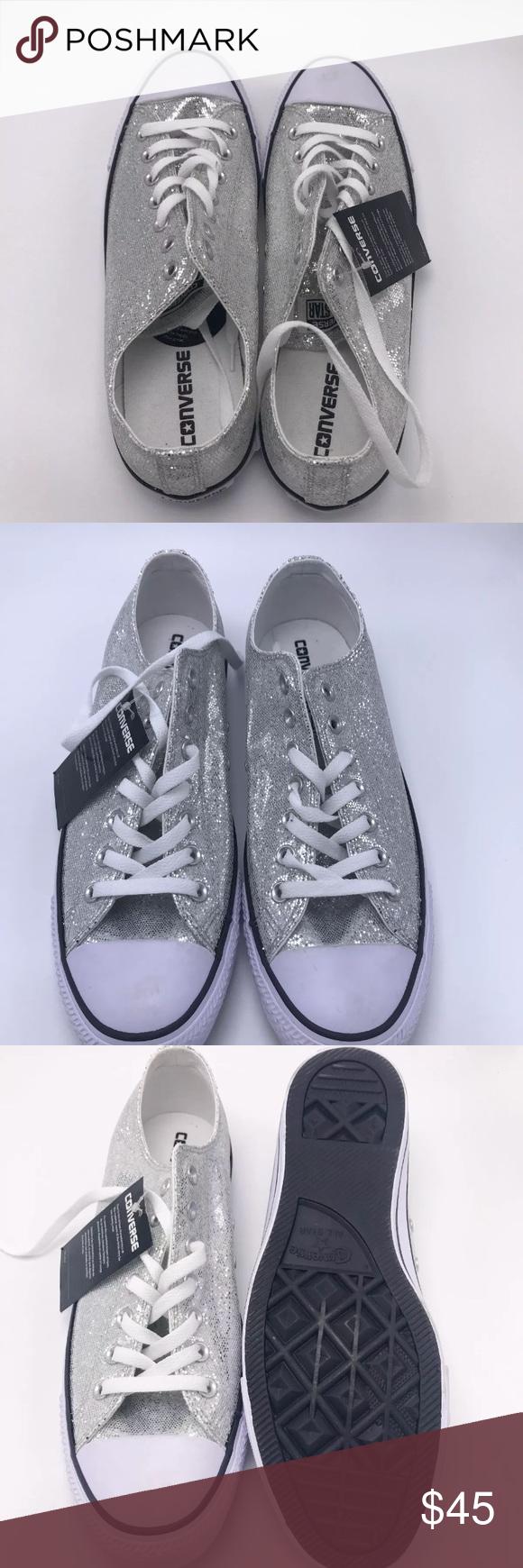 42362e35339 Converse Silver Sequin Converse Silver Sequin Size  13 (womens)  11(mens