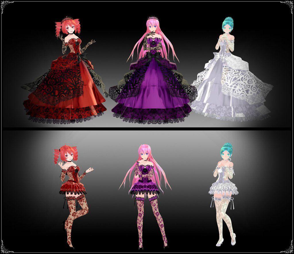 Mmd dress models download by hikariwakamiya on deviantart - Tda Darkness Passion And Light Models Download By Yamisweet On Deviantart