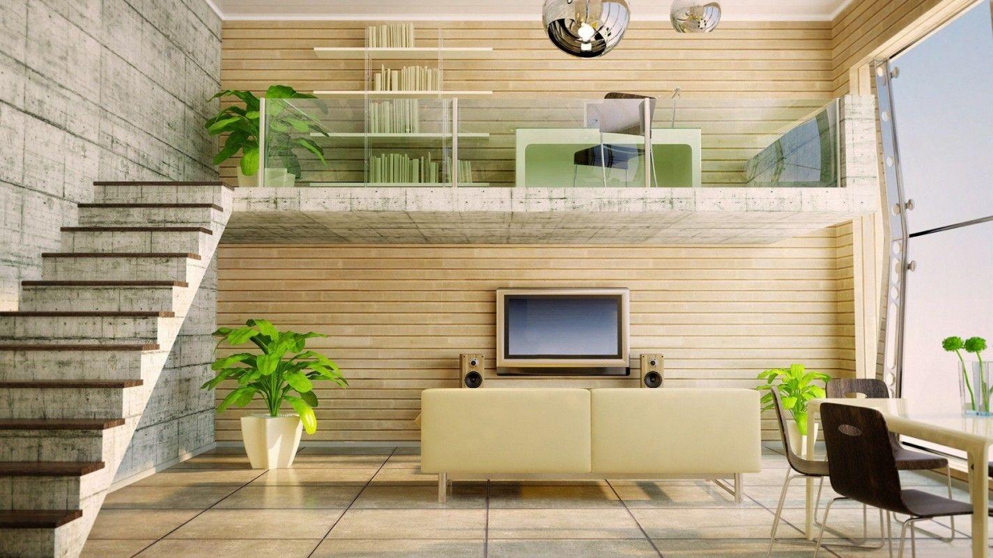 Office loft above Den with full wall of windows. | Lofty Ideas ...