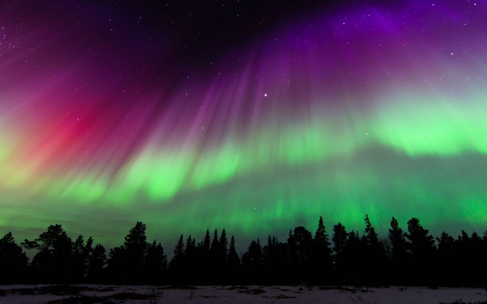 Terra Natureza Aurora Boreal Noruega Sky Stars Papel De Parede