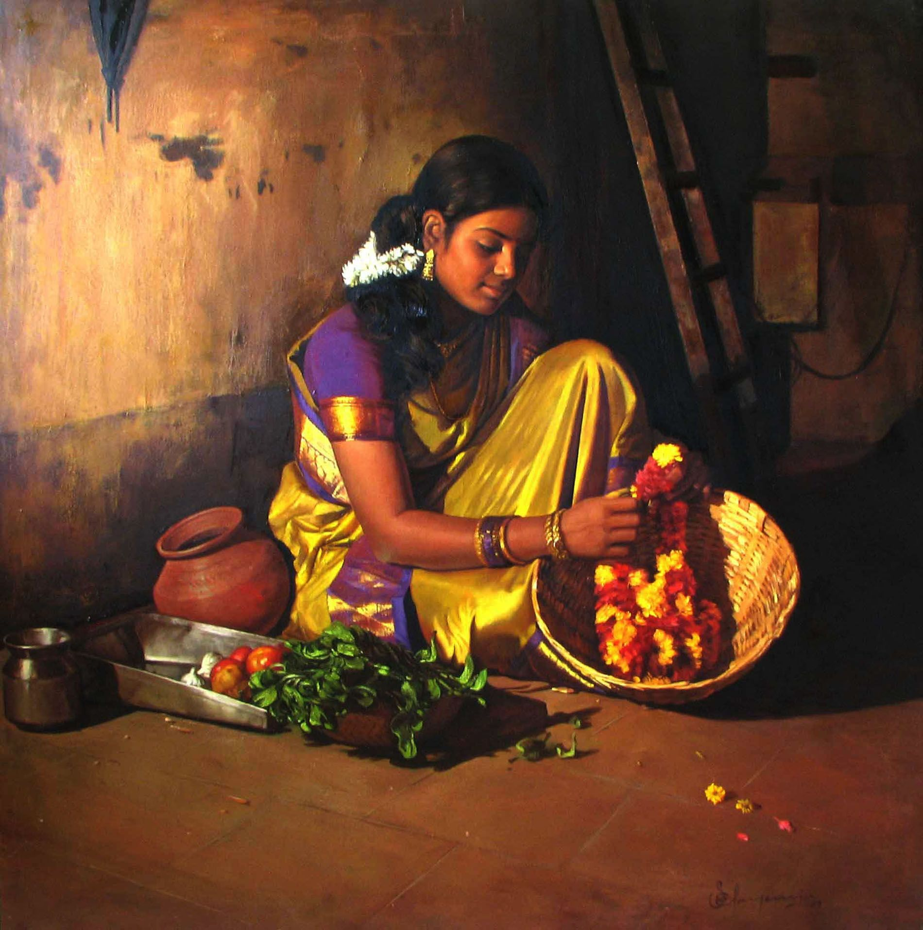 Flower making - indian woman | Share Some Love Today