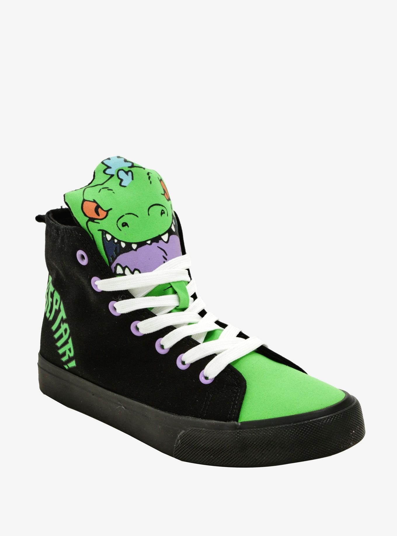ccb0a947 Rugrats Reptar Hi-Top Sneakers | Pin of the Day | Sneakers, Green ...