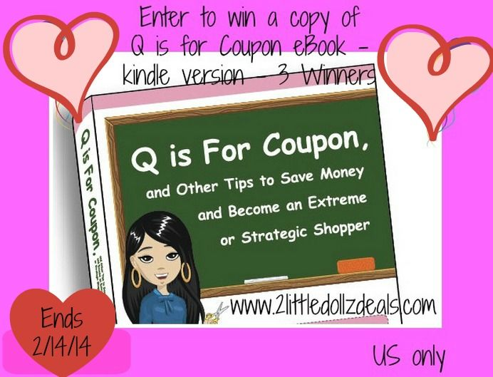 #Valentine's Day Giveaway: Learn How to Save and #Win A #FREE eBook Q is For #Coupon