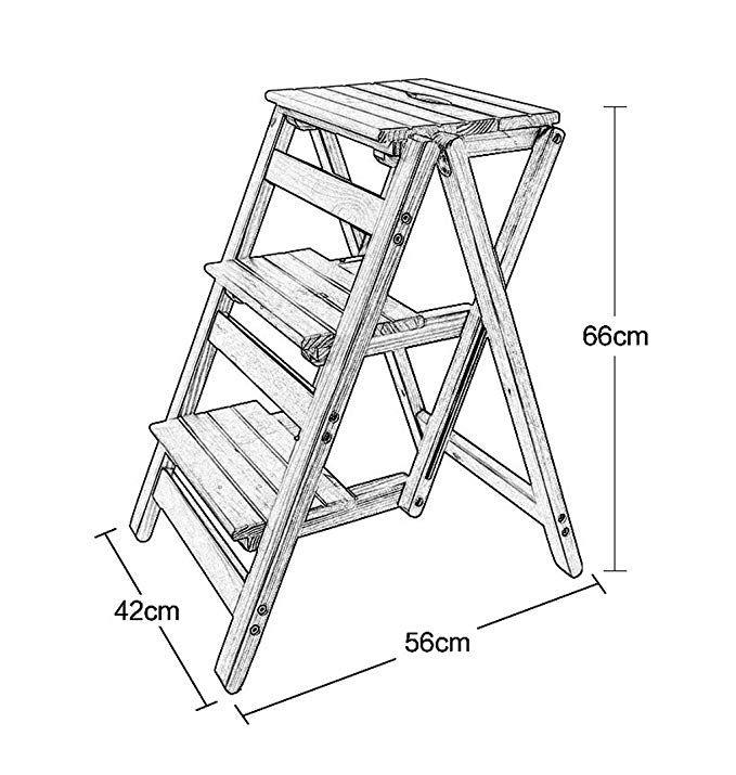 zrxian folding steps solid wood ladder stool folding fold up library rh pinterest com