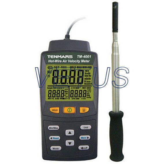 TM-4001 Manual Data Memory Hot Wire digital anemometer with HVAC ...