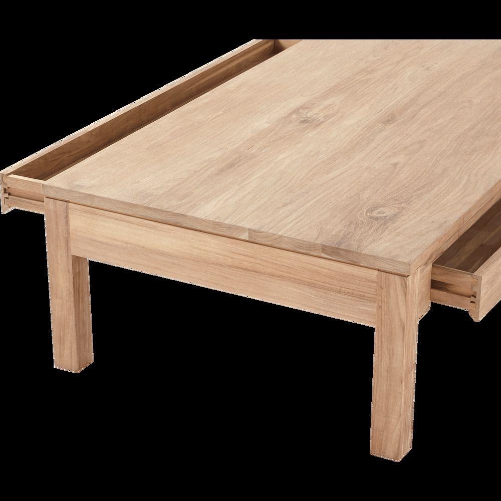 Table Basse En Teck Recycle 80x150cm Alinea En 2020 Table Basse Teck Table Basse Table Basse Rectangulaire