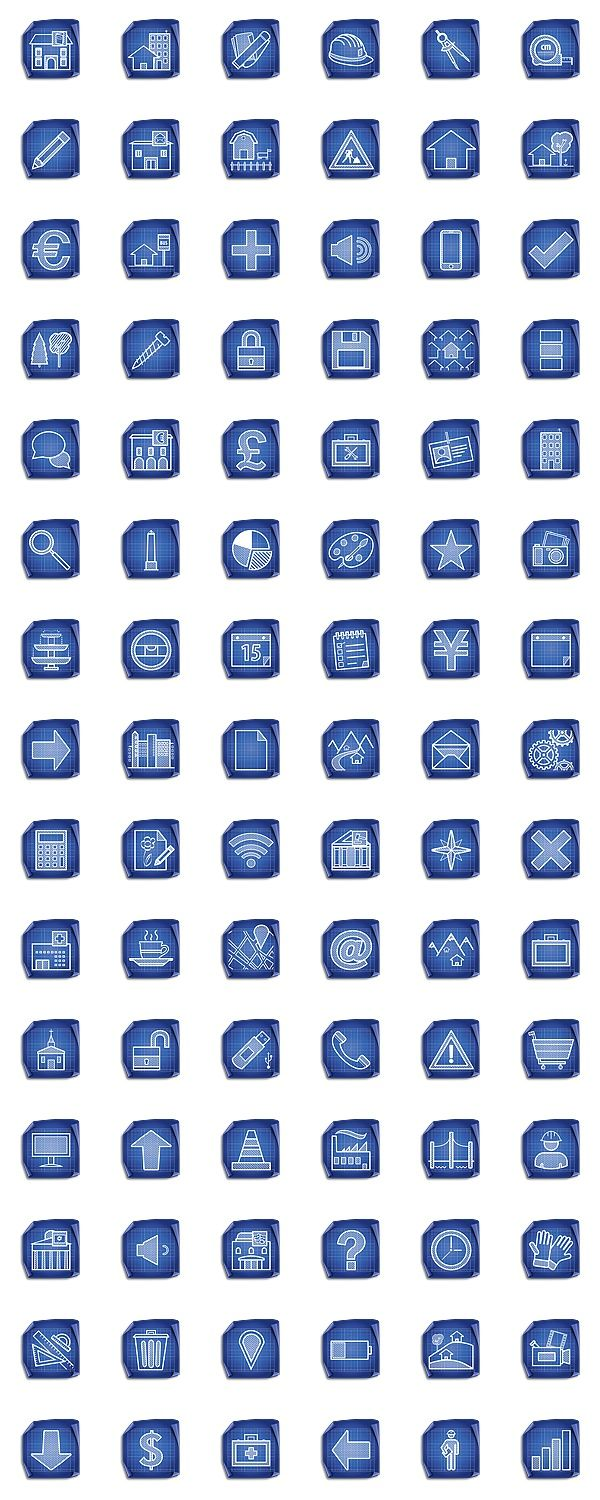 Architecture blueprint icon set dryicons infographics pinterest architecture blueprint icon set dryicons malvernweather Gallery
