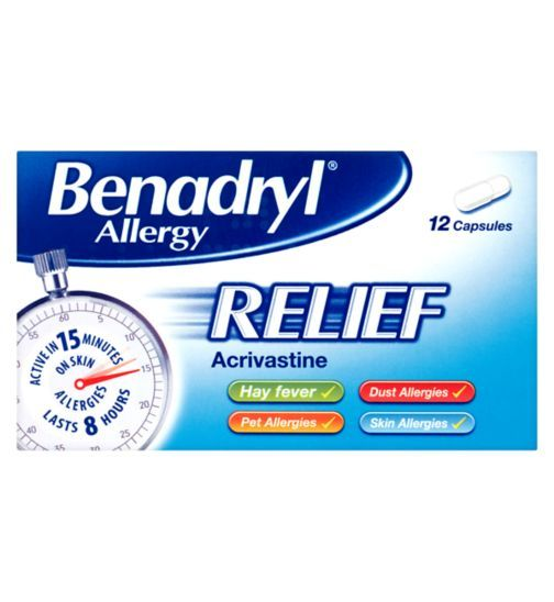 Benadryl Allergy Relief 12 Capsules Holiday Ready