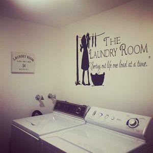 Wasserij Room Decor, Wasserij teken, Wasserij kamer Decal, Wasserij Decal, Wasserij kamer teken, Vinyl muur sticker, Wasserij kamer - WD0043 #laundrysigns