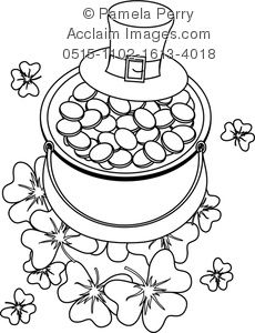 st patricks day coloring pages clipart images and stock