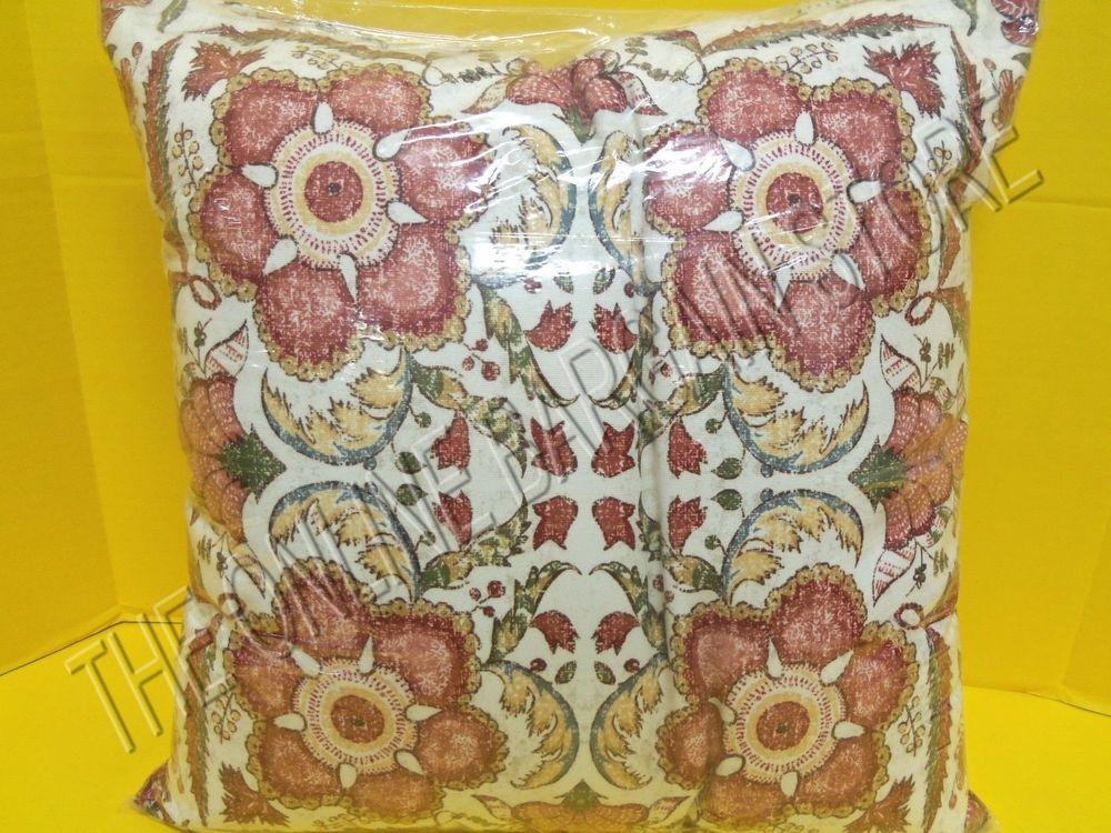 """Pottery Barn Outdoor Patio Porch Cora Floral Kalamkari Medallion Pillow 18"""" #PotteryBarn"""